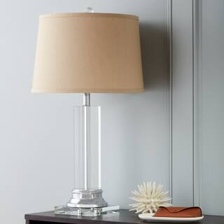 Crystal Column Table Lamp w/ Tan Shade|https://ak1.ostkcdn.com/images/products/3478273/P11549000.jpg?impolicy=medium