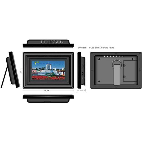 Shop Furniture of America AXN-705R 7-inch Digital Photo Frame - Free ...