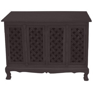 Handcrafted Lattice Design Storage Buffet