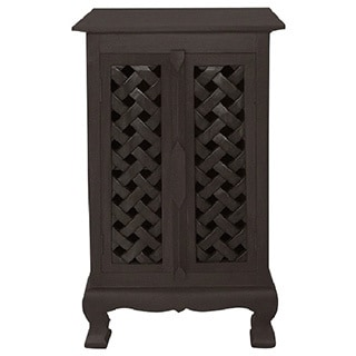 Hand-carved Lattice Design 32-inch Storage Cabinet - Free Shipping ...