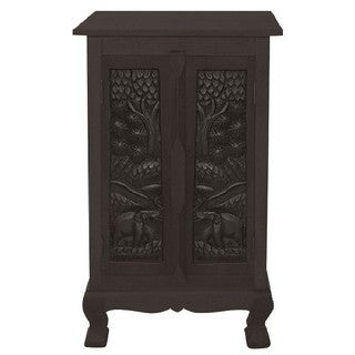 Hand-carved Royal Elephants Storage Cabinet