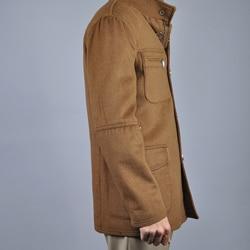 Men's Chestnut Wool/ Cashmere Coat