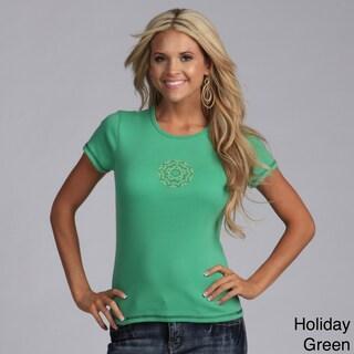 Yogacara Women's Flower Stud Chakra T-Shirt