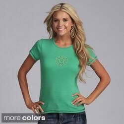 Yogacara Women's Flower Stud Chakra T-Shirt https://ak1.ostkcdn.com/images/products/3480694/Yogacara-Womens-Flower-Stud-Chakra-T-Shirt-P11551013.jpg?impolicy=medium