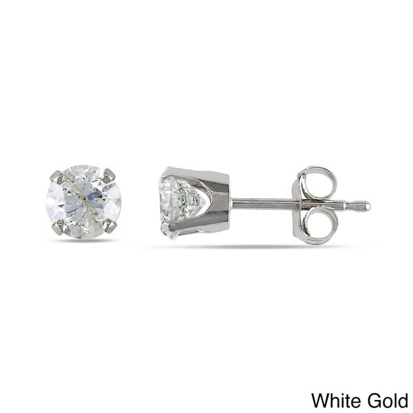 Miadora Signature Collection 1ct TDW Diamond Stud Earrings in 14k Gold (I-J, I2-I3)