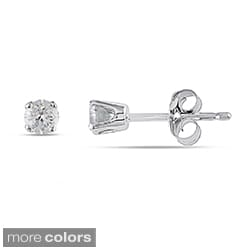 Miadora 14k Gold 1/4ct TDW Round Diamond Stud Earrings