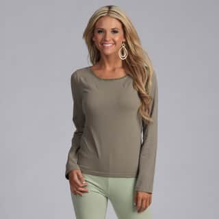 Yogacara Women's Contrast Stitched Neck Top https://ak1.ostkcdn.com/images/products/3481508/P11551657.jpg?impolicy=medium