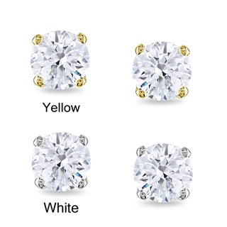 Miadora 14k Gold 1/2ct TDW Round Certified Diamond Stud Earrings