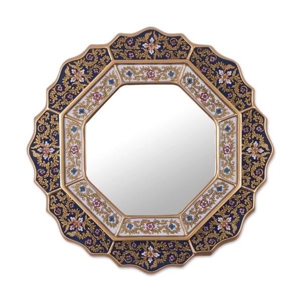 Handmade 'Star' Mirror (Peru) - Blue/Metallic - N/A