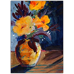 Sheila Golden 'Canna' Limited Edition Canvas Art