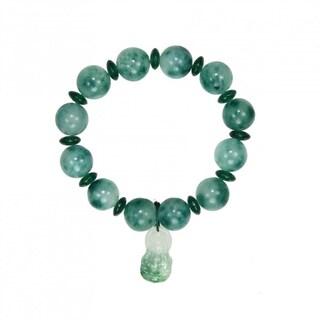Handmade Elastic Jade Bracelet With Buddha Charm China