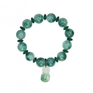 Elastic Jade Bracelet with Buddha Charm (China)