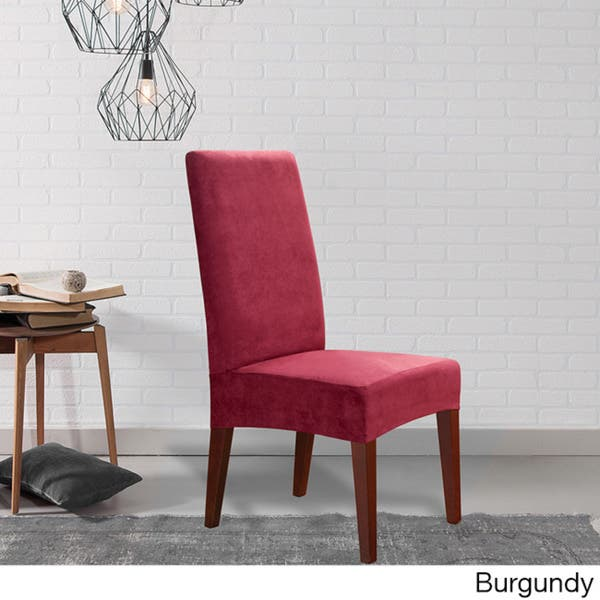 Suede Shorty Dining Room Chair Cover