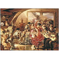 Hava 'Dancers' Canvas Art