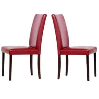 Red, Leather Kitchen & Dining Room Chairs For Less | Overstock