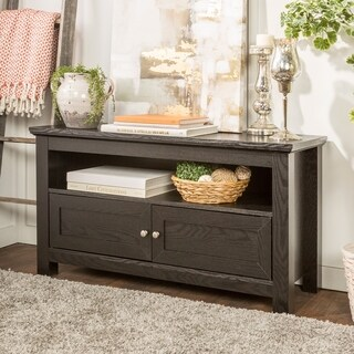 44 Inch Black Wood TV Stand
