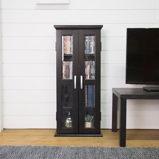 Black Wood Media Storage Tower|https://ak1.ostkcdn.com/images/products/3482117/P11552154.jpg?impolicy=medium