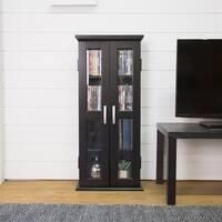 Black Wood Media Storage Tower