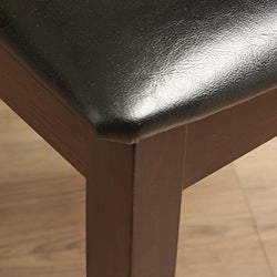 Crystal Leather Dining Room Chairs (Set of 2) - Thumbnail 2
