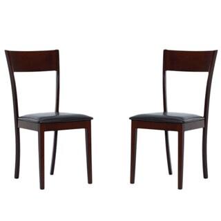 IDA Bi-cast Leather Dining Room Chairs (Set of 2)