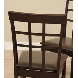 Justin Bi-cast Leather Dining Room Chairs (Set of 2) - Thumbnail 1