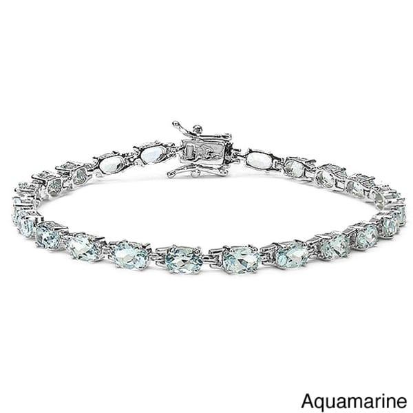 Malaika Sterling Silver Gemstone Bracelet