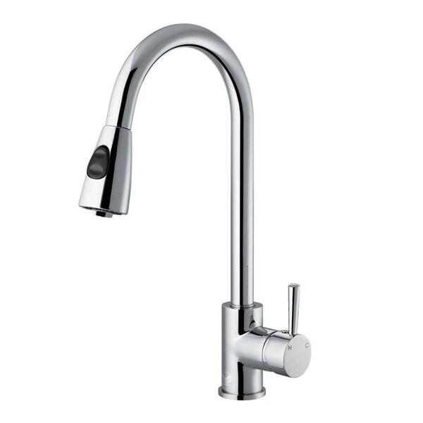 VIGO Weston Chrome Pull-Down Spray Kitchen Faucet