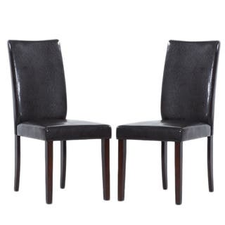 Shino Brown Bi Cast Leather Dining Chairs Set Of 8