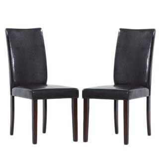 Shino Brown Bi Cast Leather Dining Chairs (Set Of 8)