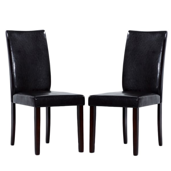 Leather Shino Black Dining Chairs (Set of 8)