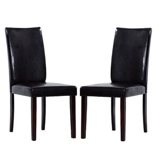 Bi-cast Leather Shino Black Dining Chairs (Set of 4)