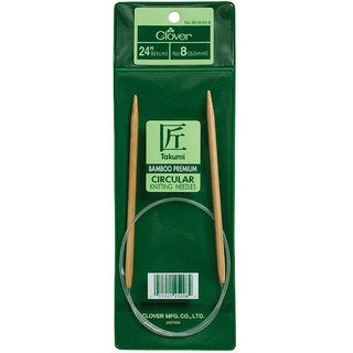 Clover Bamboo Size 3 24-inch Circular Knitting Needles