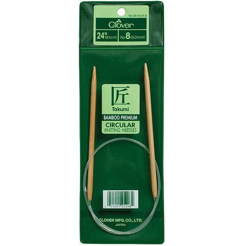 Clover Bamboo Size 4 24-inch Circular Knitting Needles