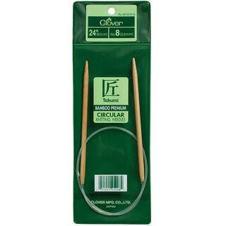 Clover Bamboo Size 8 24-inch Circular Knitting Needles