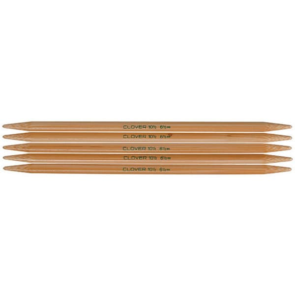 Clover Bamboo Size 10 Double-pointed Knitting Needles