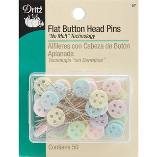 Flat Button Head Pins (Pack of 50)