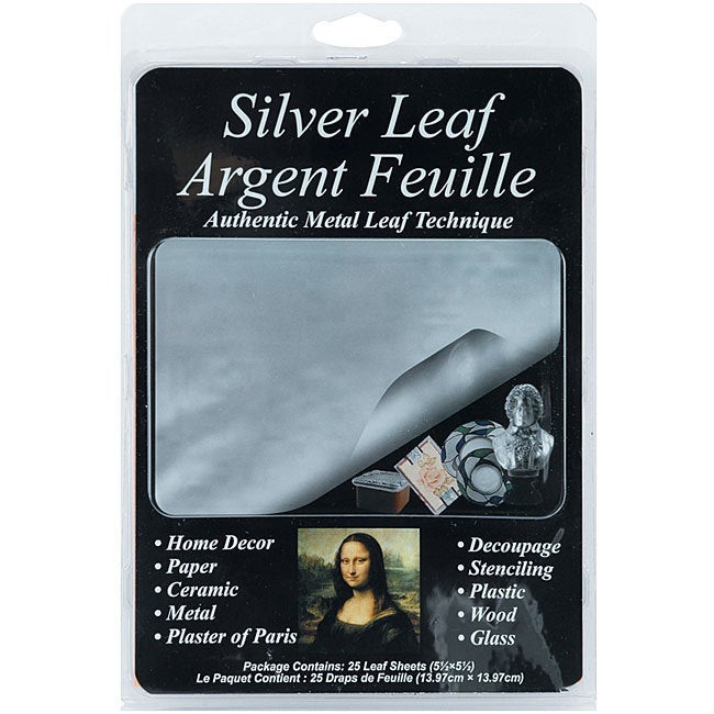 Speedball Houston Art 5.5x5.5-inch Silver Leafing Sheets ...