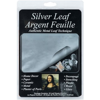 Houston Art 5.5x5.5-inch Silver Leafing Sheets (Pack of 25)