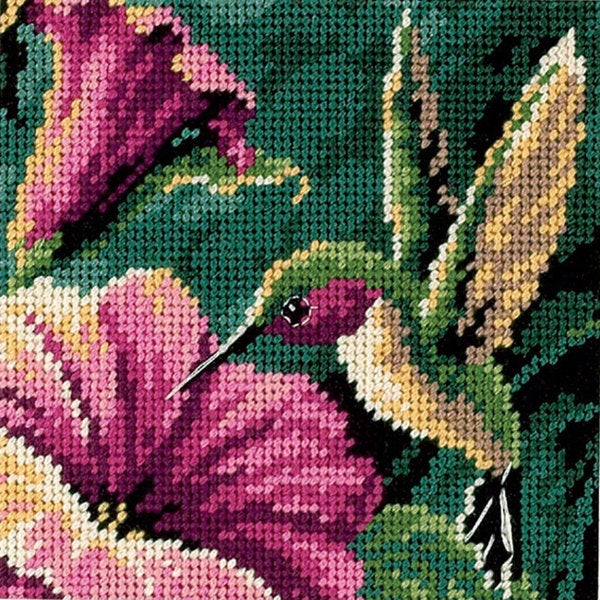 Shop Hummingbird Drama Mini Needlepoint Kit Free