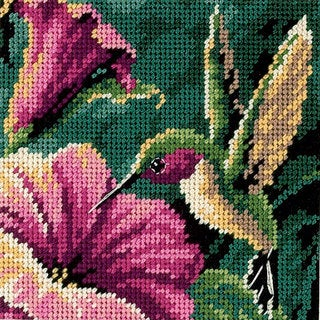 Hummingbird Drama Mini Needlepoint Kit