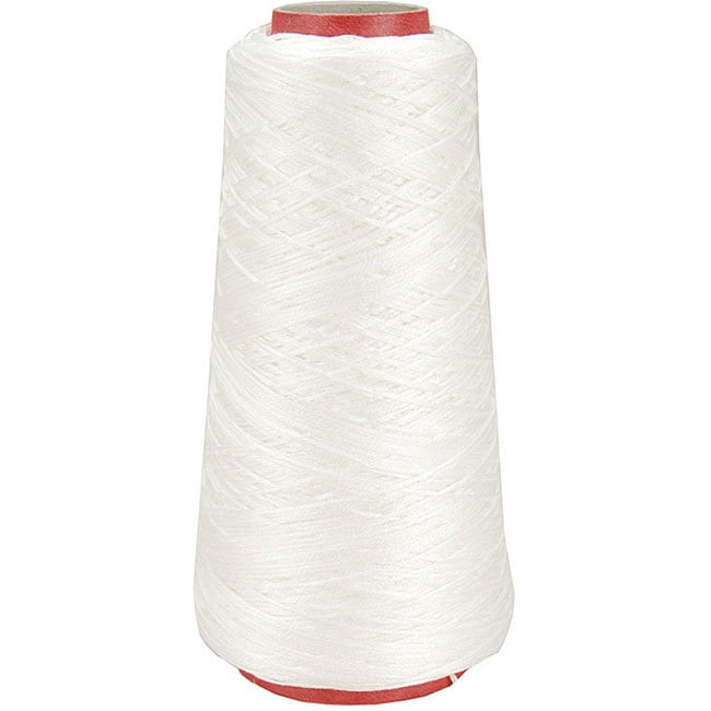 DMC 6-strand 100-gram White Cotton Embroidery Cone (White...