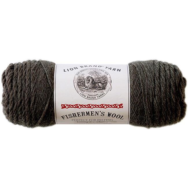 Lion Brand Fishermen's 'Nature's Brown' Wool Yarn, Brown