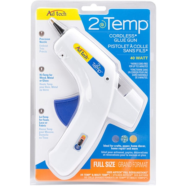 Ad-Tech 2-Temp Cordless Glue Gun