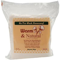 Warm and Natural White Cotton Queen-sized Batting