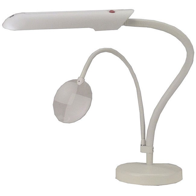 Daylight Company White Tabletop Craft Lamp with Angle-fle...