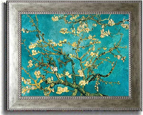 Vincent van Gogh 'Mandorlo in Fiore' Framed Canvas