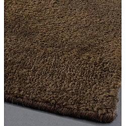 Artist's Loom Hand-woven Contemporary Solid Natural Eco-friendly Jute Rug (2'6x7'6) - Thumbnail 1
