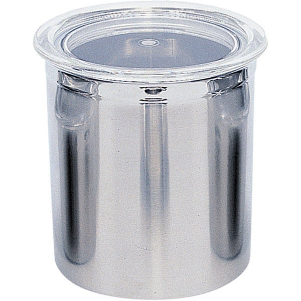 Covered Stainless Steel Storage Canister