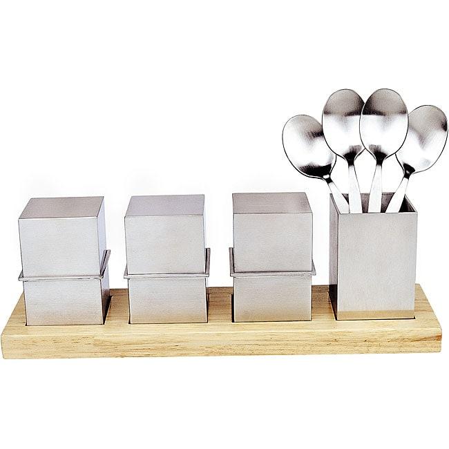 Kubic 9-piece Egg Cup Set