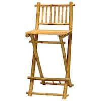 Handmade Set of 2 Bamboo Folding Barstools (Viet Nam)